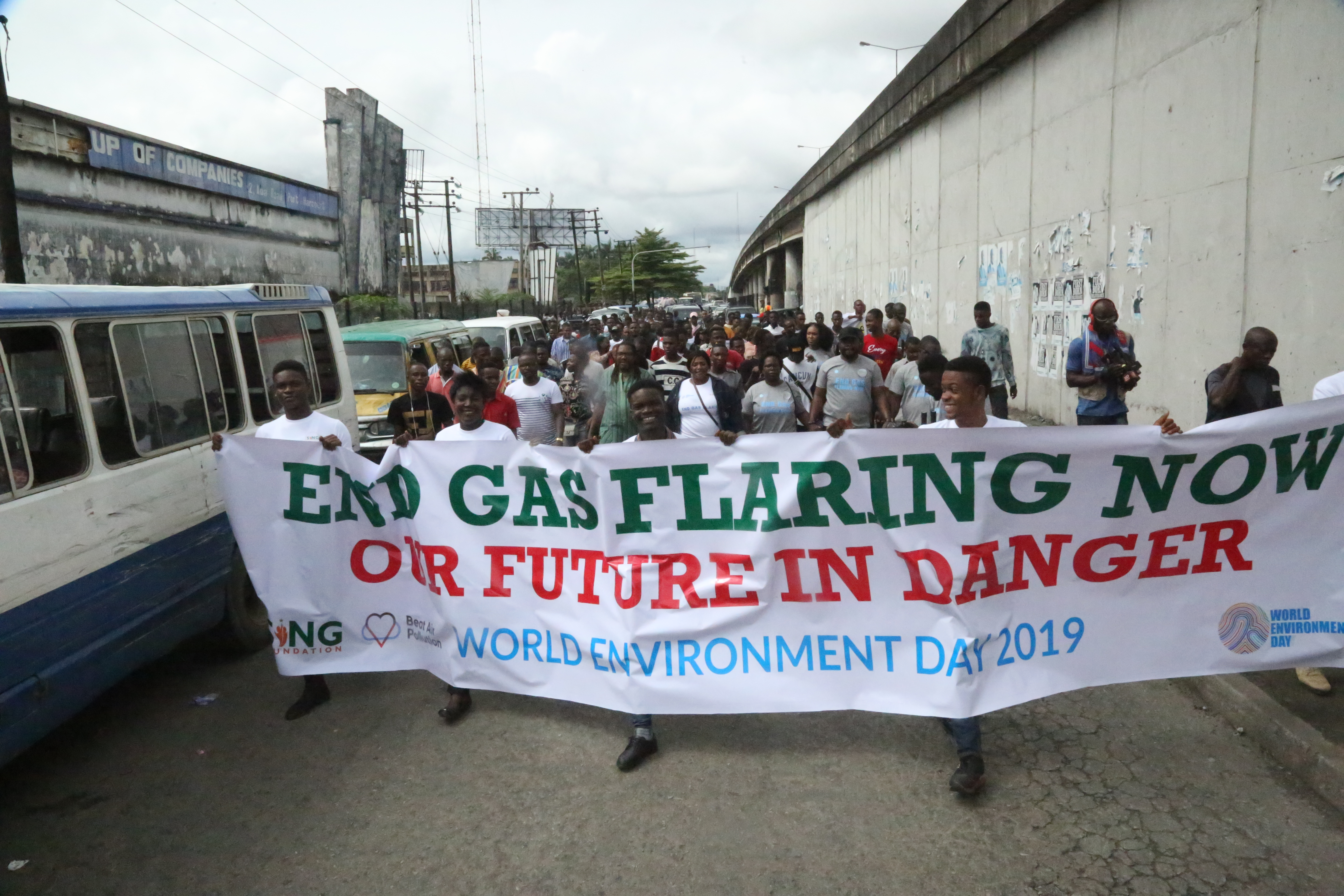 end gas flaring